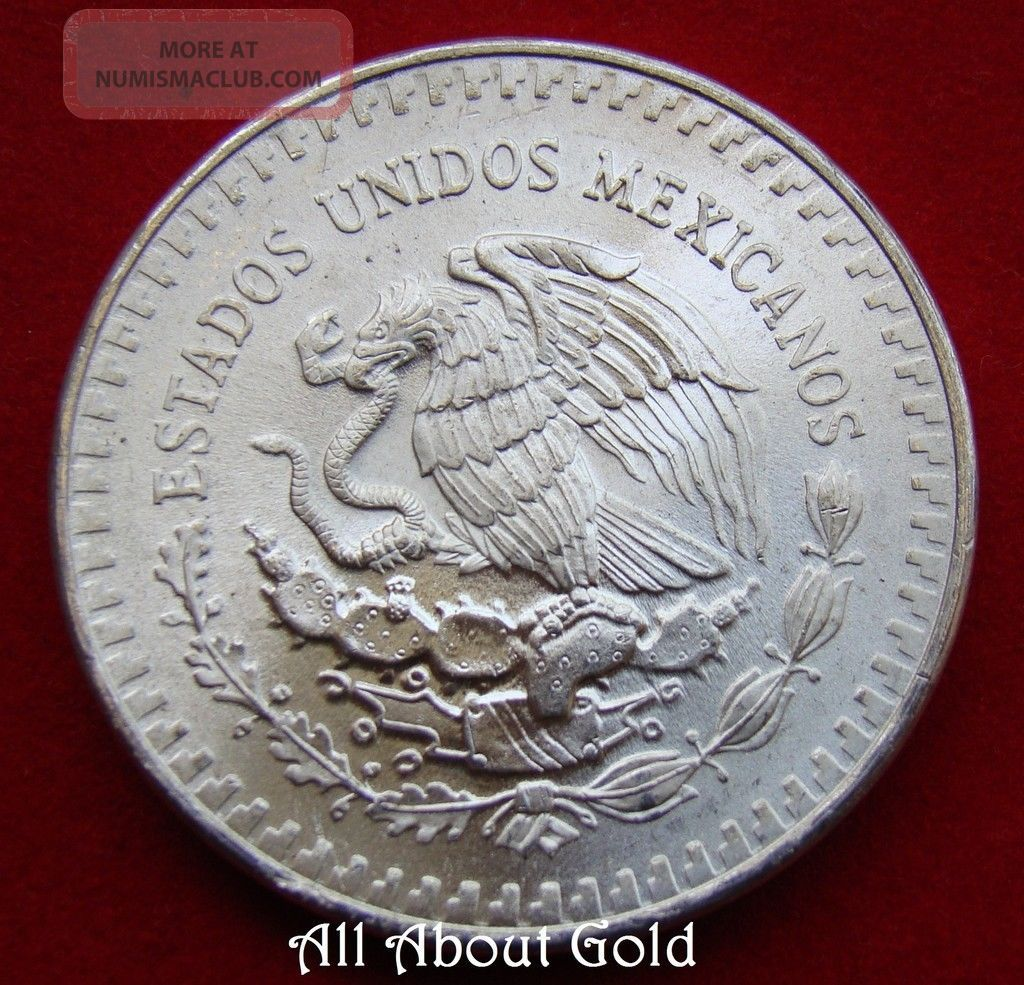 Mexico Silver Coin 1 Oz 1983 Libertad 999 Fine Winged