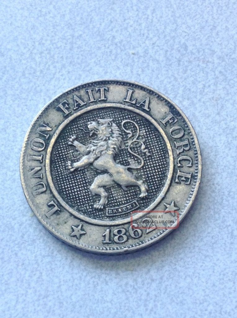 Belgium 1862 10 Centimes / Premier - Leopold I Europe photo