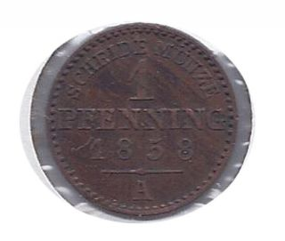 German States Lippe - Detmold 1 Pfennig 1858 - A Ef Km 260 photo