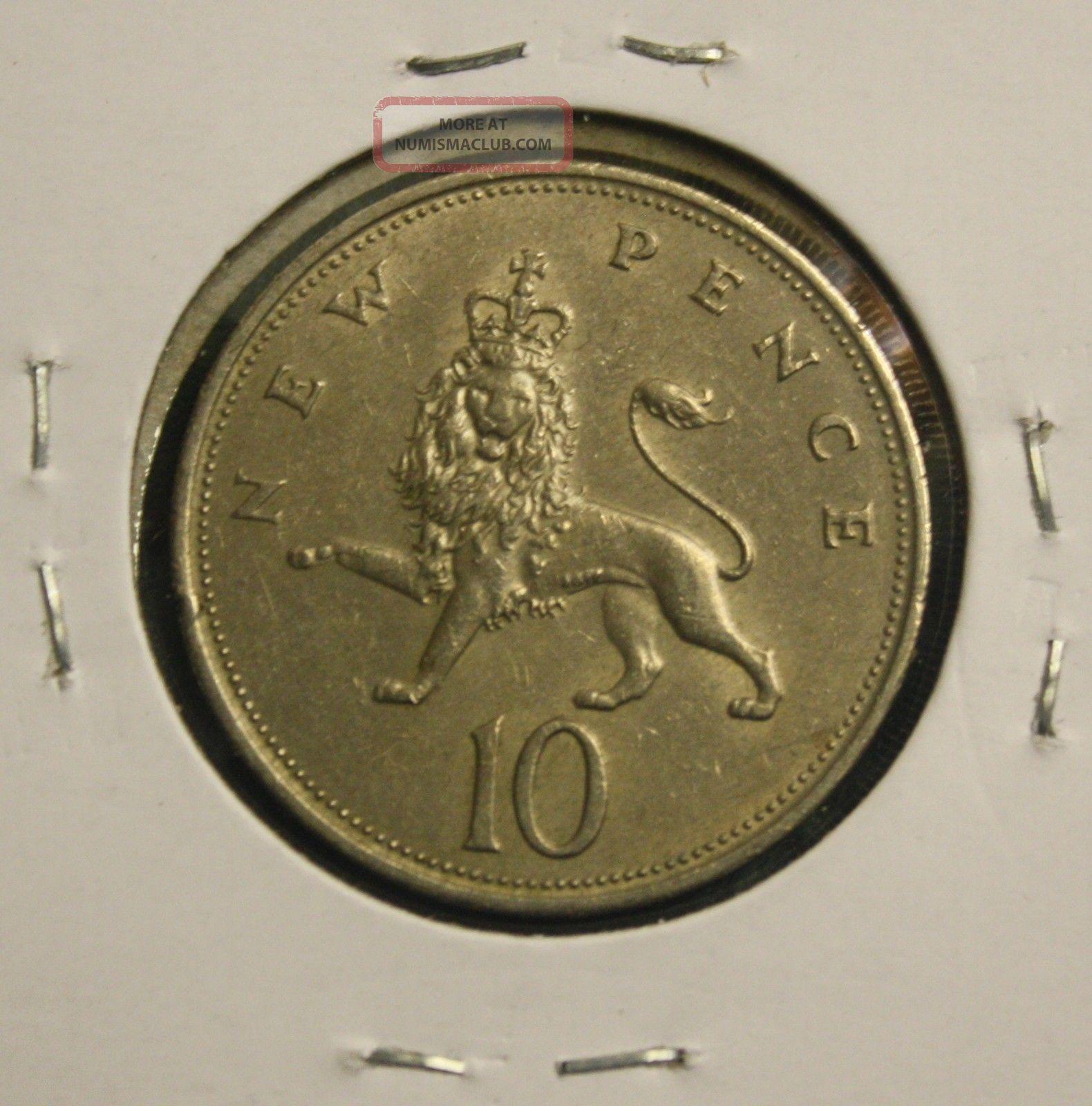 1968 Great Britain - Uk - 10 - Pence Coin UK (Great Britain) photo