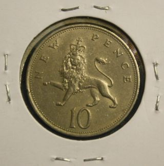 1968 Great Britain - Uk - 10 - Pence Coin photo