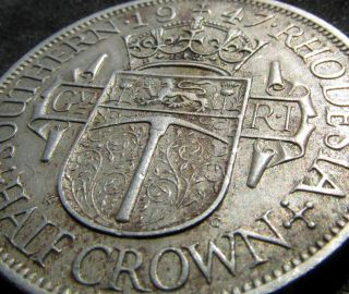 Great 1947 Half Crown From Southern Rhodesia (zimbabwe),  British Colonial Colony photo