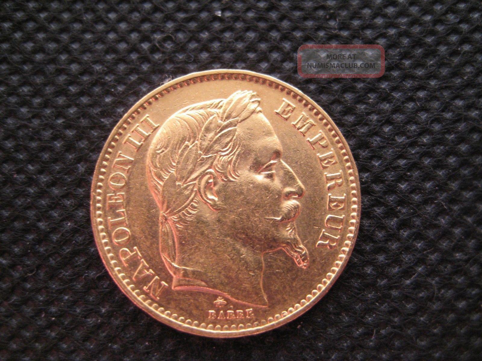 France 20 Francs Napoleon Iii 1867 Oz Gold Coin