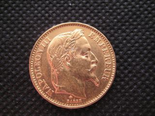 France 20 Francs Napoleon Iii.  1867 Oz Gold Coin photo