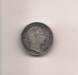 Austria 1861a Florin Silver Coin photo