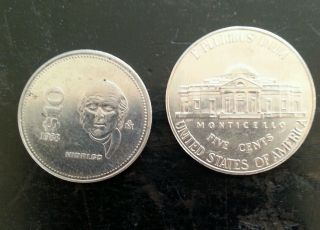 1988 Mexico $10 Pesos Coin Hidalgo - Low Cost photo