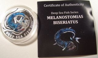 2010 Pitcairn $2 Melanostomias Bieriatus 1/2oz.  Silver Proof Coin Low Mintage photo