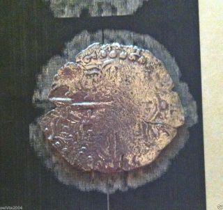 Atocha 8 Reale Shipwreck Coin - Grade 2 - 21.  40 Grams - Rare Assayer - photo