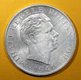 Romania Mihai I Silver 1946 100 000 Lei Aunc 25g 37mm Km 71 photo