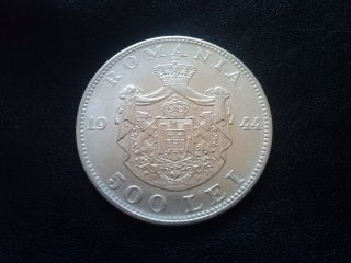 500 Lei 1944 - Unc Silver Coin From Romanian Kingdom photo