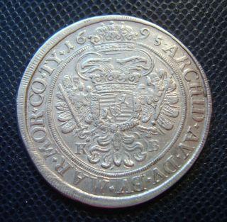 Austria - Hungary / Silver 1/2 Thaler / Leopold I.  / 1695 K - B photo