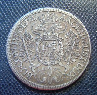 Austria / Silver 1/2 Thaler / Carol Vi.  / 1724 photo