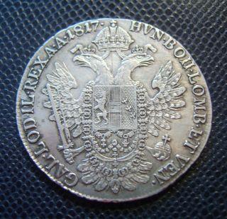 Austria / Silver 1/2 Thaler / Franc Ii.  / 1817 A photo