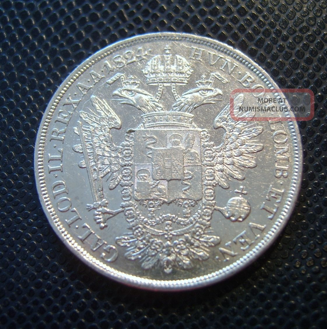 Austria - Italy / Silver 1/2 Scudo - 3 Lire / 1824 V Europe photo
