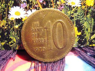 South Korea 1970 - 10 Won Bronze Coin