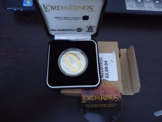 Zealand: 2003 Lord Of The Ring Lotr $1 Silver Proof Coin Scarce photo