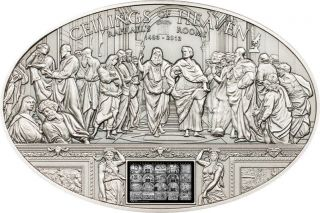 Nano Raphael Rooms Ceilings Of Heaven Silver Coin 5$ Cook Islands 2013 photo