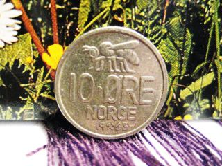 Norway 1965 10 Ore Coin