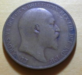 1907 Great Britain Penny photo