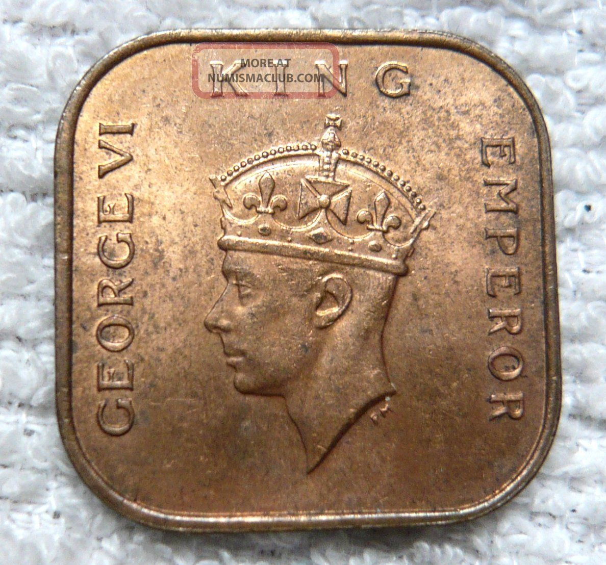 Malaya King George Vi 1 Cent Bronze Coin 1940 Lustrous Au