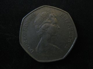 Great Britain 50 Pence,  1969 photo