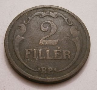 Hungary 2 Filler,  1926,  Km 506 photo