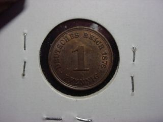1876 - A 1 Pfennig German Km 1 Ch Au photo