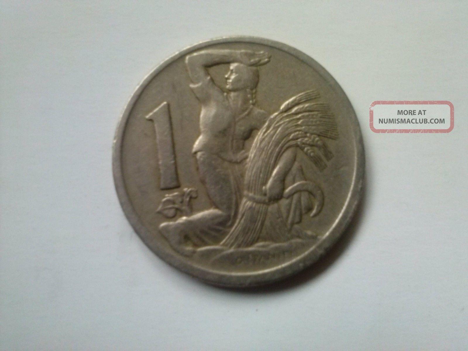 1 Coroana 1923 - Rare Old Coin From Cehoslovacia Europe photo