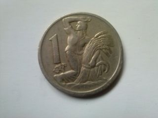 1 Coroana 1923 - Rare Old Coin From Cehoslovacia photo