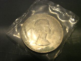 1965 Queen Elizabeth Ii Churchill Coin photo