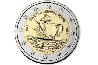 Portugal 2 Euro Cc Commemorative Coin 2011 - 500.  Anniv.  Of Birth Of Fmp - Unc photo
