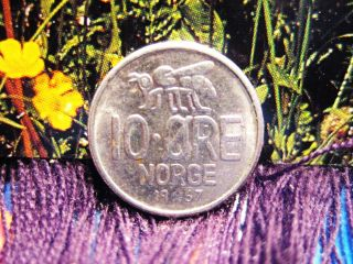 Norway 1967 10 Ore Coin