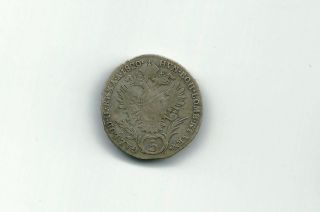 Austria 1820 A 5 Kreuzer Silver Coin photo