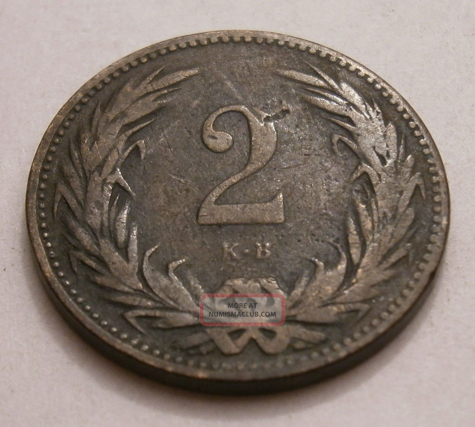 Hungary 2 Filler,  1895,  Km 481 Europe photo