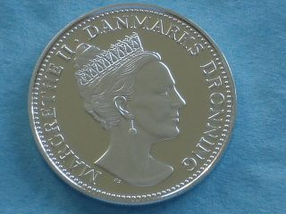Denmark Queen Margrethe Ii 1998 Official Silver Proof Medal photo