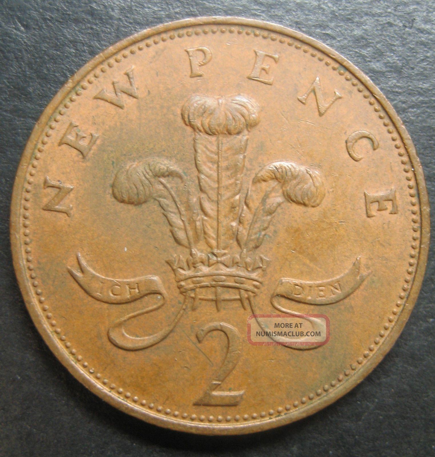1971 Great Britain 2 Pence Decimal Coinfree UK (Great Britain) photo