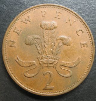 1971 Great Britain 2 Pence Decimal Coinfree photo