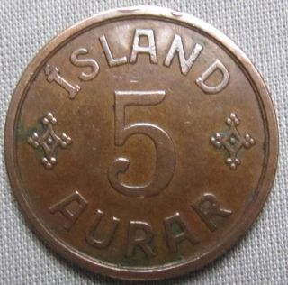 Iceland 1931n - Gj - 5 Aurar photo