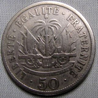 Haiti 1907 - 50 Centimes photo