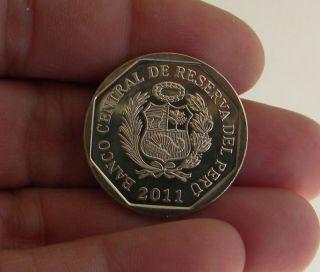 Gran Pajaten Serie Riquezas Del Peru 1 Nuevo Sol 2011 Coin 7 Circulated photo