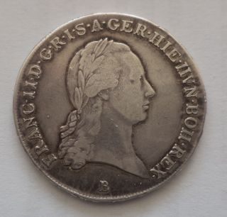 1797,  Francis Ii.  Silver ½ Crown Thaler (trade Coin) photo