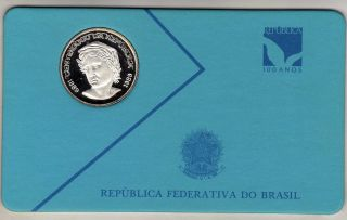 Brazil 200 Cruzados Novos 1989,  Silver Unc. photo