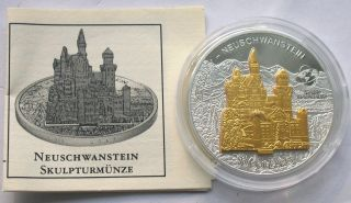 Cook 2006 Swan Stone Castle 10 Dollars Gild 1oz Silver Coin,  Proof photo