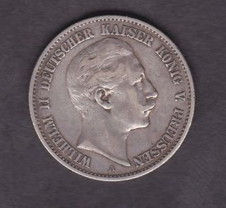 Germany,  Prussia,  2 Mark,  Silver,  1893 photo