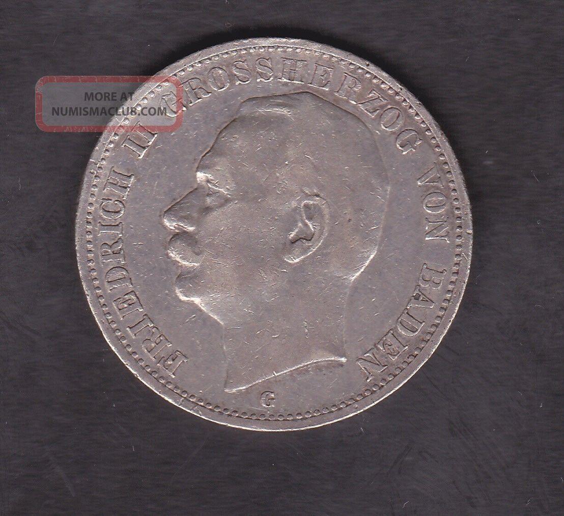 Germany,  Baden,  3 Mark,  Silver,  1912 Germany photo