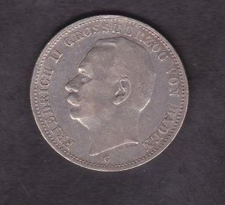 Germany,  Baden,  3 Mark,  Silver,  1912 photo