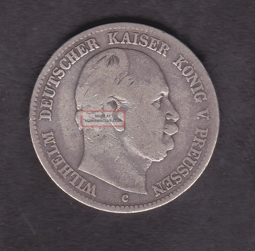 Germany,  Prussia,  2 Mark,  Silver,  1876 Germany photo