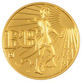 Euro,  Vth Republic,  100 Euros Or photo