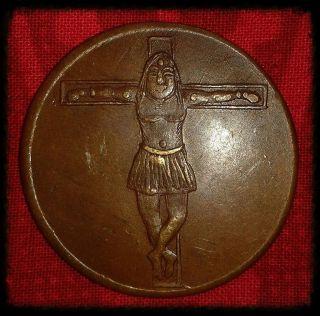 1840 Jesus Christ East India Company Ukl Half Anna Very Rare Token Coin E6 photo