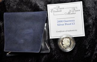 2000 Guernsey Silver Proof One Pound photo